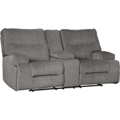 Signature Design by Ashley Coombs Collection Power Reclining Loveseat with Console