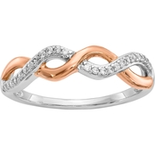 10K Two Tone Gold 1/8 CTW Diamond Fashion Ring