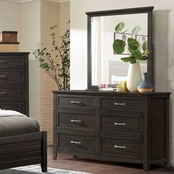 Furniture of America Alaina 6 Drawer Dresser and Mirror