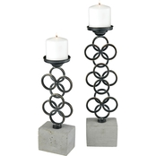 Dimond Home Indigo Pillar Candle Holder 2 pc. Set