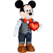 Disney Valentine Greeter Mickey with Bowtie and Vest