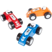 Hey! Play! Wooden Toy Race Car 3 pc. Set