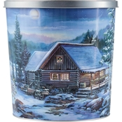 Hickory Farms Winter Retreat Popcorn Tin 18 oz.