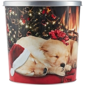 Hickory Farms Sleeping Labs Popcorn Tin 18 oz.
