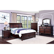 Furniture of America Wells Queen Bed with Storage Drawers