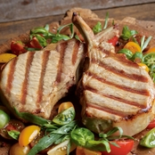 Kansas City Steak Co. Long Bone Berkshire Pork Chops 8 oz. 4 pk.