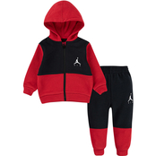 Jordan Infant Boys Colorblock Zip Hoodie and Jogger Pants 2 pc. Set
