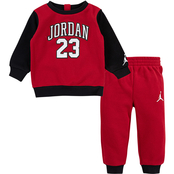 Jordan Infant Boys Crew Top and Jogger Pants 2 pc. Set