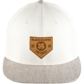 Black Clover/ Rawlings Leather Patch Flat Cap
