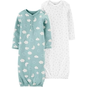 Carter's Infant Boys Sleeper Gowns 2 pk.