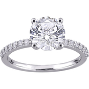 10K White Gold 2 3/4 CTW Created White Sapphire Solitaire Ring Size 7