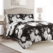 Lush Decor Zinnia Floral Quilt 3 pc. Set