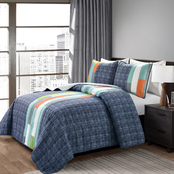 Lush Decor Shelly Stripe 3 pc. Quilt Set
