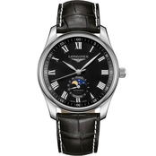 Longines Men's Master 40mm Stainless Steel Moonphase Automatic Watch