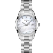 Longines Women's Conquest Classic 34mm Diamond Accent Watch L23864876