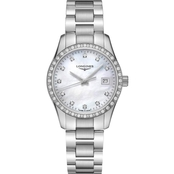 Longines Women's Conquest Classic 34mm Diamond Accent Watch L23860876
