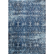 Rizzy Home Panache Dark Blue Geometric Rug