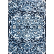 Rizzy Home Panache Dark Blue Central Medallion Rug