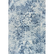 Rizzy Home Panache Blue Distress Patch Work Rug