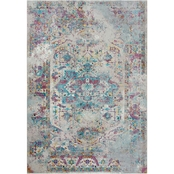 Rizzy Home Princeton Light Blue Broken Medallion Rug