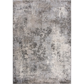Rizzy Home Valencia Silver Abstract 5 ft. 3 in. X 7 ft. 6 in. Rug