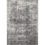 Rizzy Home Valencia Dark Grey Abstract 5 ft. 3 in. X 7 ft. 6 in. Rug