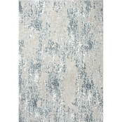 Rizzy Home Chelsea Grey Abstract 5 ft. 3 in. X 7 ft. 6 in. Rug