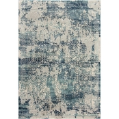 Rizzy Home Chelsea Dark Blue Abstract Rug