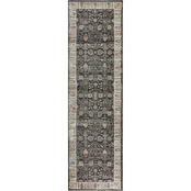 Rizzy Home 27 x 91 in. Panache Gray Oriental Distress Rug