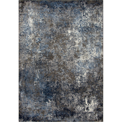 Rizzy Home Valencia Dark Blue Abstract Area Rug