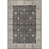 Rizzy Home Panache Gray Oriental Distress Area Rug
