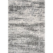 Rizzy Home Valencia Taupe Abstract Area Rug