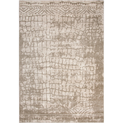 Rizzy Home Valencia Tan Abstract Area Rug
