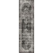 Rizzy Home Panache Dark Grey Medallion Distress Rug