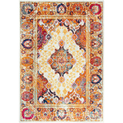 Rizzy Home Rothport Orange Central Medallion Rug