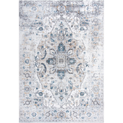 Rizzy Home Bristol Blue Oval Medallion Rug