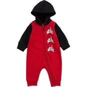 Jordan Infant Boys Jumpman Classics French Terry Full Zip Hooded Coveralls