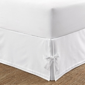 Laura Ashley Corner Ties White Tailored Bed skirt