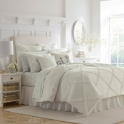 Laura Ashley Maeve Ruffle 4 pc. Comforter Set