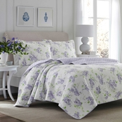 Laura Ashley Keighley Purple Quilt Set