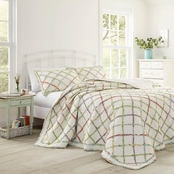 Laura Ashley Ruffle Garden Cream Quilt Set