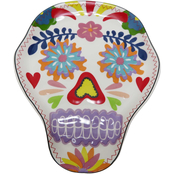 Gibson Home Day of the Dead Santiago Calavera Skull Tidbit Dish