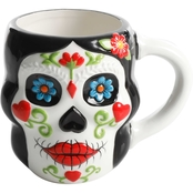 Gibson Home Day of the Dead Camila Calavera Figural Mug