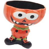 Gibson Home Smiling Halloween Figural Footed Candy Bowl