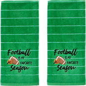 Saturday Knight LTD Football Is Fav Season Hand Towel 2 pc. Set, Green