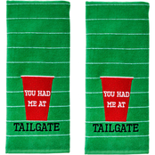 Saturday Knight LTD You Had Me At Tailgate Hand Towel 2 pc. Set, Green