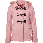 Pink Platinum Little Girls Ruffle Toggle Fleece Jacket