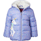 Wippette Little Girls Unicorn Puffer Jacket