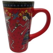 Gibson Home Day of the Dead Baila Calavera Latte Mug