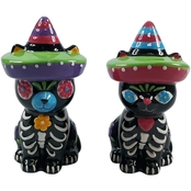 Gibson Home Day of the Dead Dante Salt and Pepper Shakers